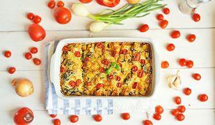 Zapiekanka ziemniaczana ze szpinakiem. Szybki obiad
