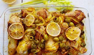 Żółty kurczak z cytryną