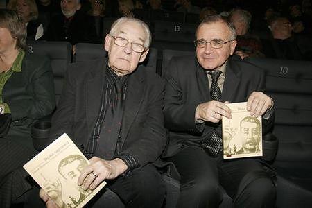 Andrzej Wajda i prof. Tadeusz Lubelski
