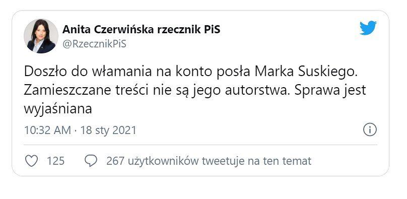 Nie bądź jak Marek Suski. Zobacz, jak zabezpieczyć się przed kradzieżą konta
