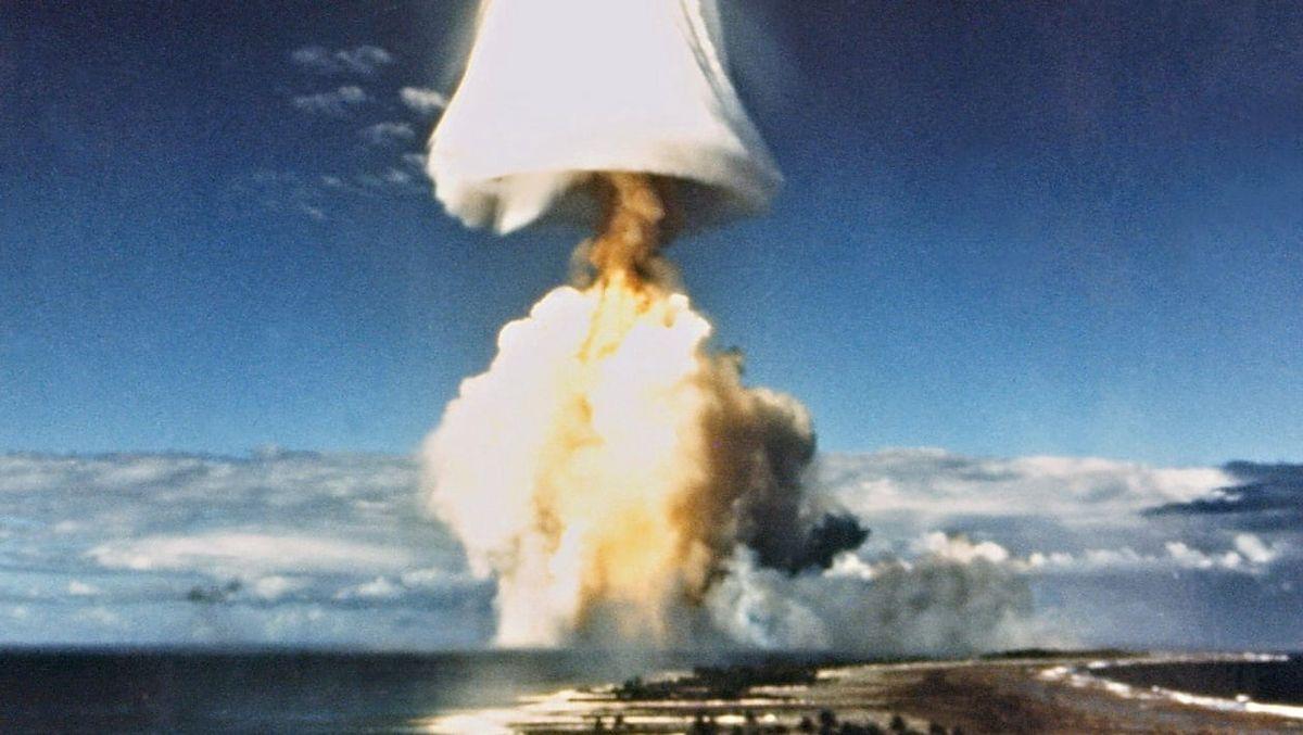 Jeden z Pacyficznych testów jądrowych.