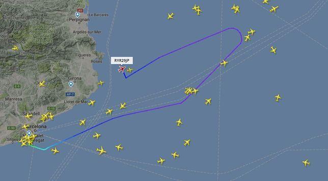 Samolot z Barcelony do Krakowa zawrócił po kilkudziesięciu minutach lotu