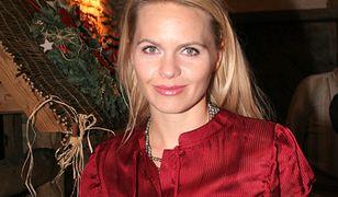 """Magdalena Stużyńska w 2007 roku na 10-leciu serialu """"Złotopolscy"""""""