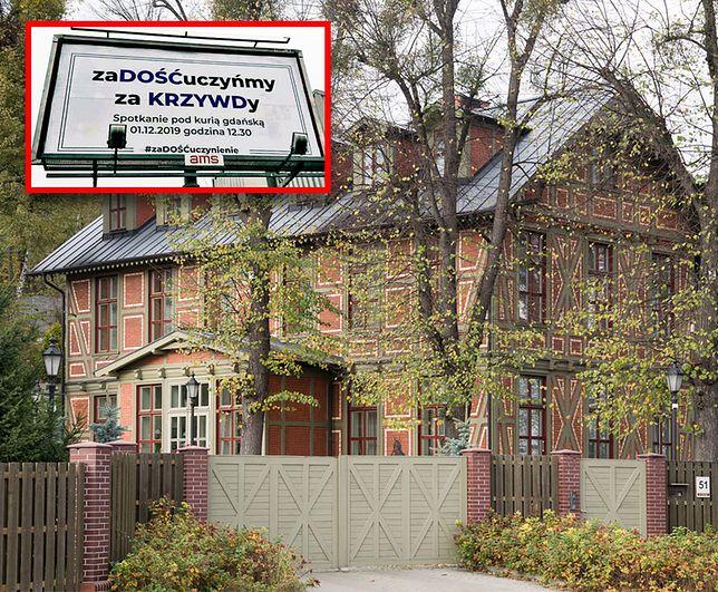 Billboard był postawiony niedaleko rezydencji abpa Sławoja Leszka Głodzia