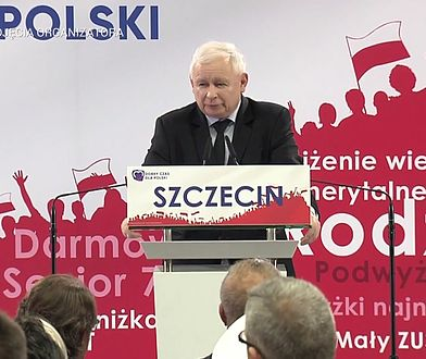 """Szczecin. Jarosław Kaczyński dziękuje za pomnik brata. """"Macie powód do dumy"""""""