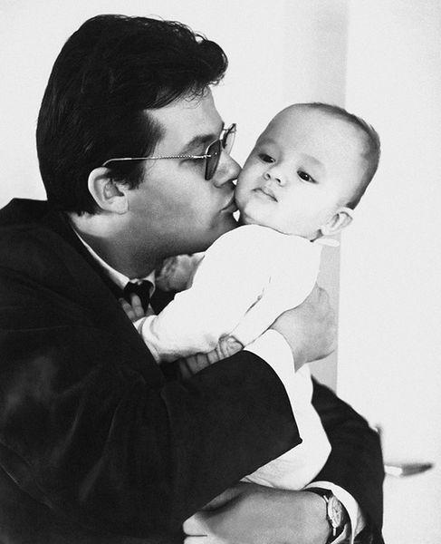 Zbigniew Cybulski z synem