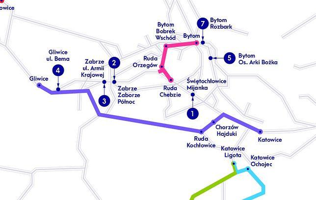 Śląskie. Osobna para torów na trasie Gliwice - Katowice pozwoli m.in. zwiększyć częstotliwość kursowania pociągów na tej trasie.