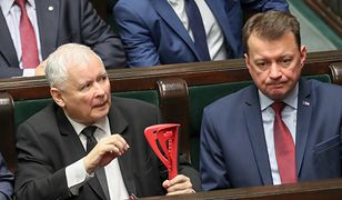 Jarosław Kaczyński i Mariusz Błaszczak