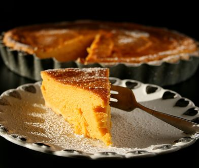 Tarta na słodko z dyni, batata i mascarpone. Podaj na kolację