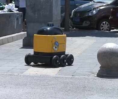 Robot pędzi ze sklepu do klienta