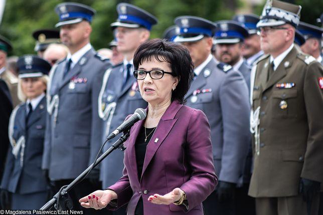Atak na policjanta. Szefowa MSWiA Elżbieta Witek obiecuje pomoc.