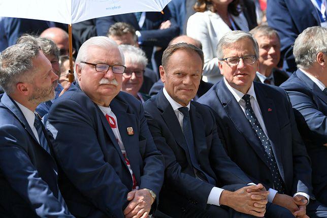Donald Tusk i Bronisław Komorowski na obchodach rocznicy 4 czerwca w Gdańsku