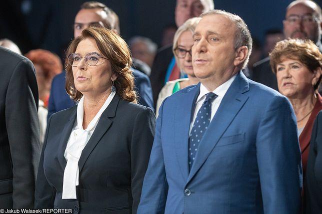 Małgorzata Kidawa Błońska i Grzegorz Schetyna