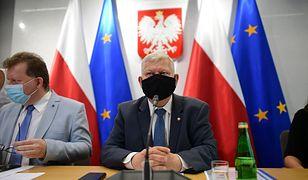 """Burza wokół """"lex TVN"""". Na zdjęciu poseł PiS Marek Suski"""