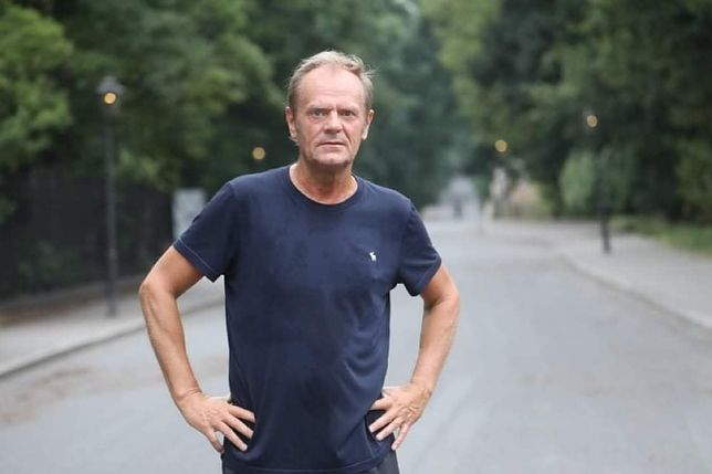 Donald Tusk rozpoczął niedzielę od joggingu