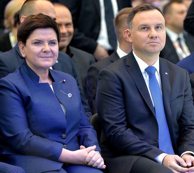 Była premier Beata Szydło i prezydent Andrzej Duda.