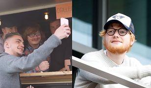 Ed Sheeran (po prawej) ma przedsiębiorczego sobowtóra