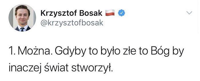 Krzysztof Bosak o... czymś