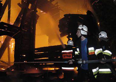 Akcja gaśnicza w Czarnowąsach