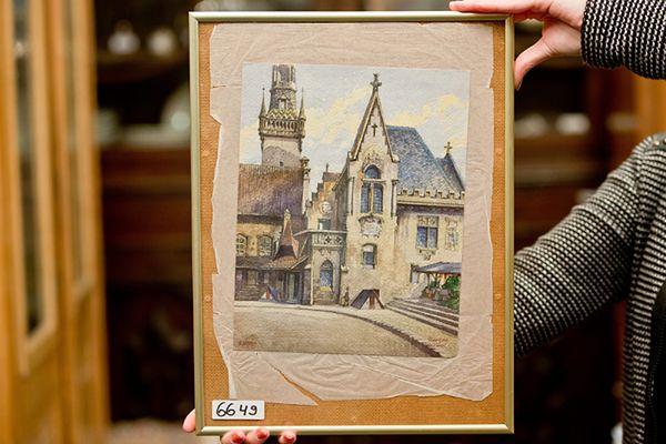 Akwarela namalowana przez Hitlera poszła za 130 tys. euro