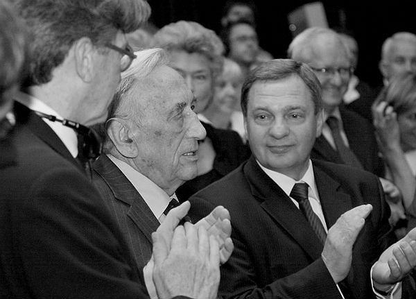 Władysław Husejko z byłym premierem Tadeuszem Mazowieckim