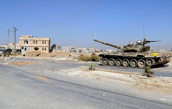Czołg syryjskiej armii rządowej