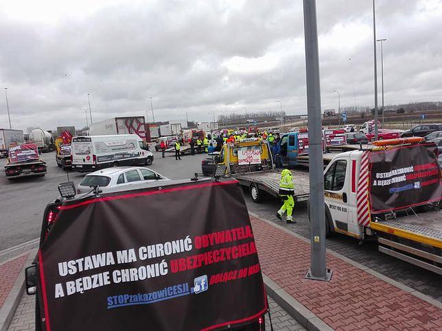 Protest na autostradzie A2