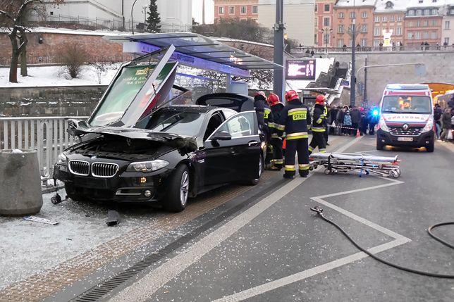 Sprawca wypadku na trasie W-Z najprawdopodobniej zostanie ukarany mandatem i punktami karnymi