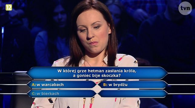 """Kadr z programu """"Milionerzy"""""""