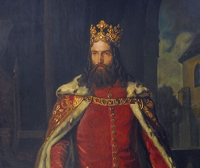Kazimierz Wielki na obrazie Leopolda Löfflera.