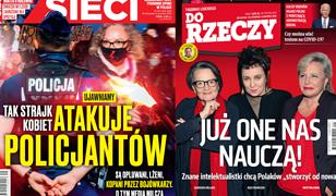 """Okładki tygodników. """"Kaczyński jak rosyjski propagandysta"""" i """"Strajk Kobiet atakujący policję"""""""