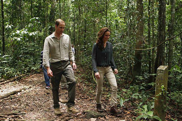 Książę William i jego żona księżna Kate