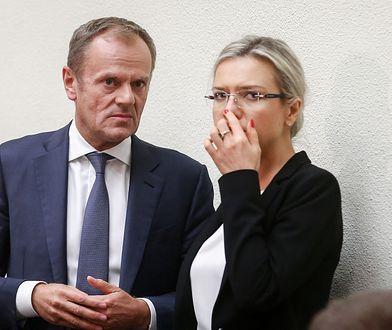 Donald Tusk i przewodnicząca komisji Małgorzata Wassermann.