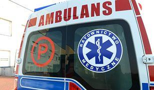 Cztery osoby zostały przewiezione do szpitala