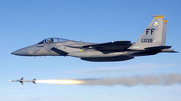 Amerykański myśliwiec F-15C Eagle