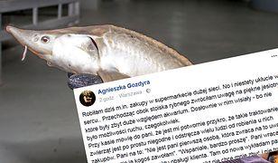 Widok ściśniętych ryb załamał dziennikarkę Polsatu