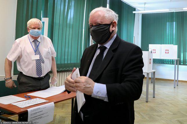 Wieczór wyborczy. Prezes Jarosław Kaczyński pojechał na Jasną Górę