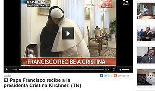 Franciszek i Cristina Fernandez de Kirchner
