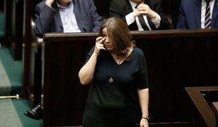 Joanna Lichocka podczas czwartkowego posiedzenia Sejmu