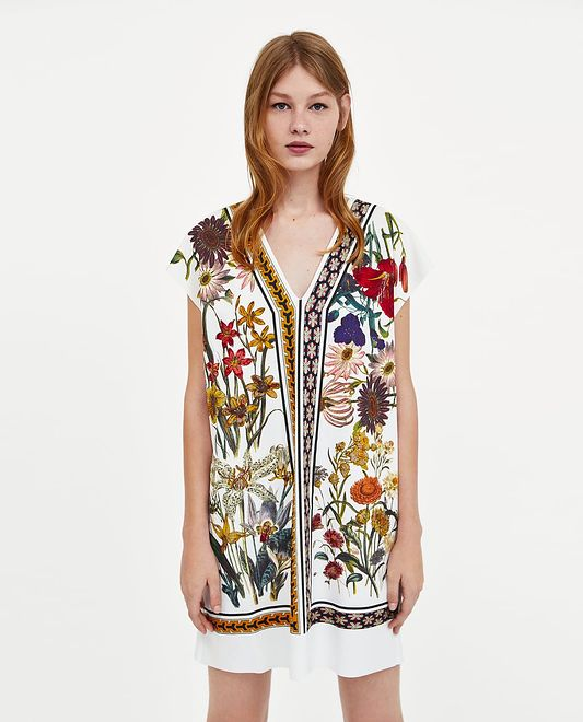 ZARA: sukienka w kwiaty za 59,90 zł