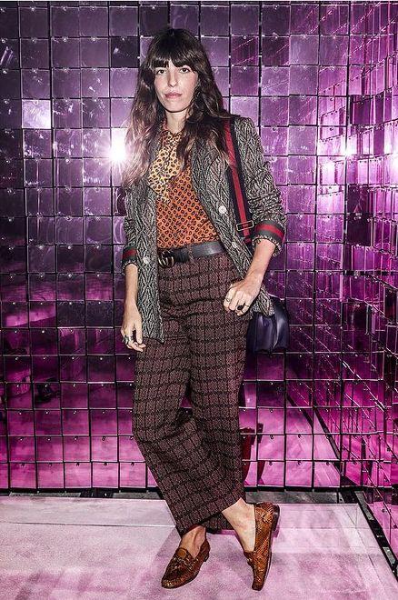 Lou Doillon na pokazie wiosenno-letniej kolekcji Gucci 2017