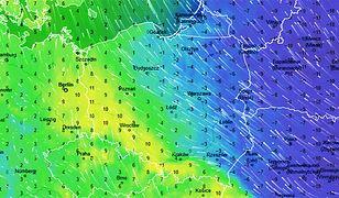 Pogoda. Wiatr sprawi, że w piątek w południe we wschodniej części Polski temperatura odczuwalna będzie jeszcze niższa