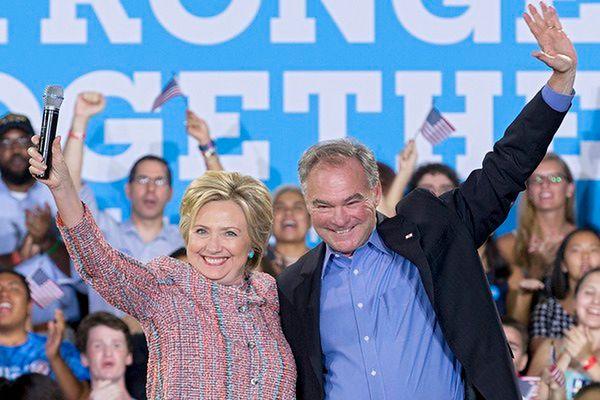 Clinton wskazała kandydata na wiceprezydenta