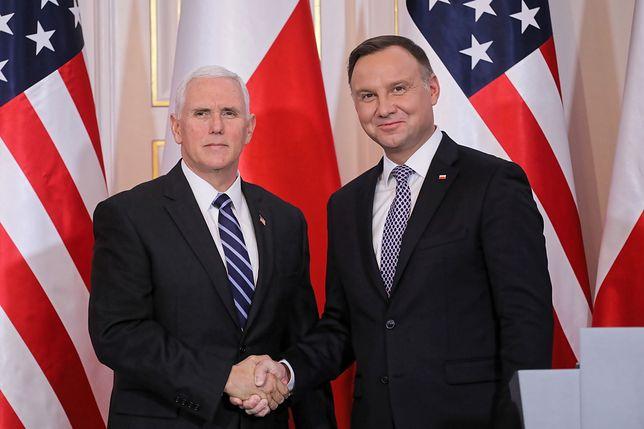 Andrzej Duda spotkał się z wiceprezydentem USA Mikiem Pencem