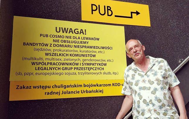 Janusz Korwin-Mikke w pubie