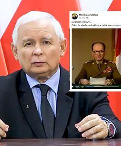 """""""Ku przestrodze"""". Monika Jaruzelska komentuje przemówienie Kaczyńskiego"""