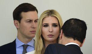 Ivanka Trump z mężem Jardem Kushnerem i sekretarzem skarbu Mnuchinem