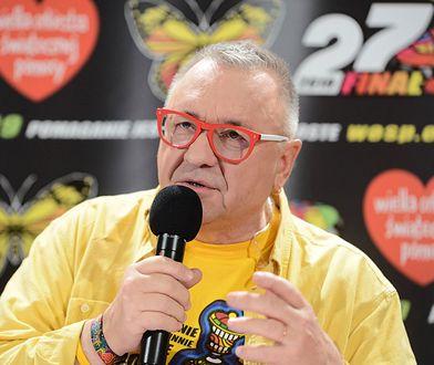 Jurek Owsiak podczas 27 finału WOŚP