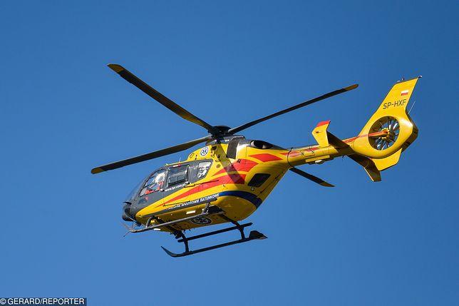 Śmigłowiec LPR przetransportował jedno z rannych dzieci do szpitala