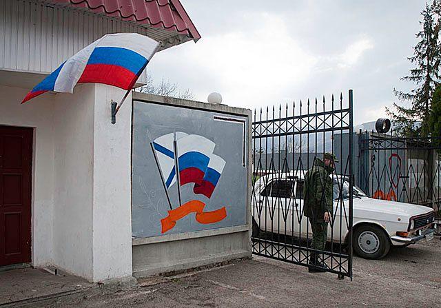 Tu też zawisła rosyjska flaga - zdjęcia